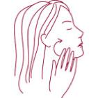 Schéma du mouvement pour application de Crème Eclat aux Cinq Fleurs®