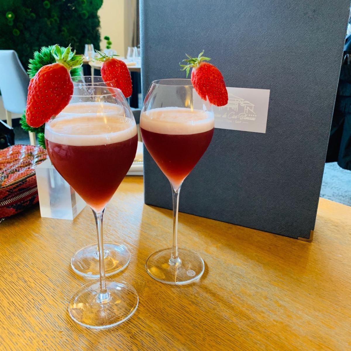 Nouveau Cocktail du Domaine, Le Lady Blossac. Présent actuellement dans notre nouveau bar à Bruz à 15 min de Rennes
